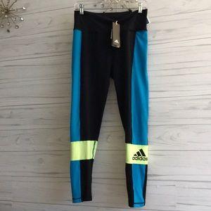 NWT Adidas Colorful Climalite Leggings Pants